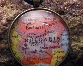 Bulgaria Map Christmas Ornament, Keep a memory Alive / HONEYMOON Gift / Wedding Map Gift / Travel Tree Ornament /  Corporate gift