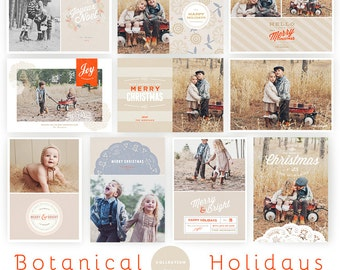 Botanical Holidays Cards Collection