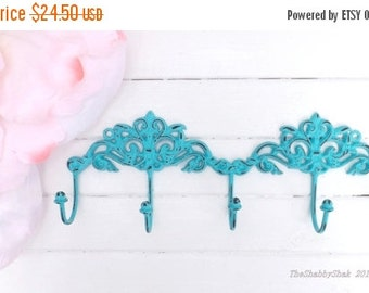 Shabby Chic Wall Hook /Metal wall Decor / Cottage Chic / Key Hanger / Key rack / French Cottage /Metal wall hook