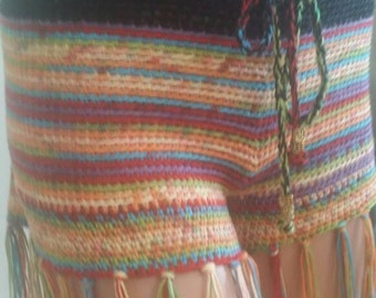 Crochet colorful shorts