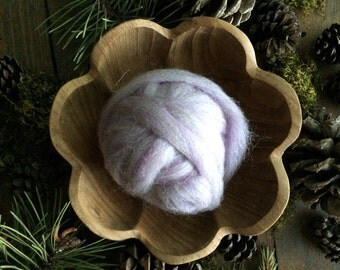 Wool roving supply for needle felting, Pastel Purple Heather, 1/2 ounce or 1 ounce, purple felting wool, purple wool roving, felting supply