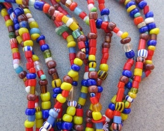 Mixed African Beads -6 Strands