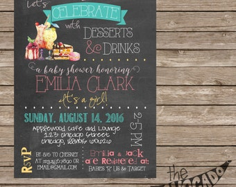 Desserts and Drinks Baby Shower (or any event) - DIY Printing or Professional Prints