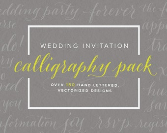 Wedding Calligraphy Vector Pack