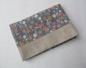 Tissue Case/Flower x Natural Linen