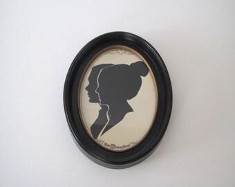 Vintage silhouettes/ Disney/ hand cut paper profiles