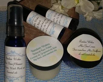 Fancy Face set, Face, Eyes, lips, cleanse, tone, moisturizer, set