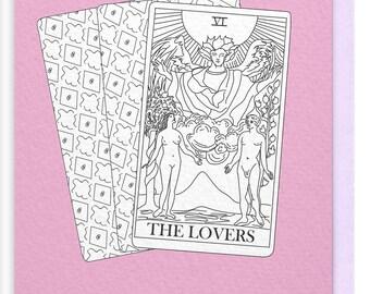 The Lovers Tarot Greeting Card