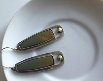 Green Jasper Sterling Silver Earrings