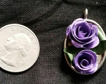 Handmade Victorian Style Floral Pendant