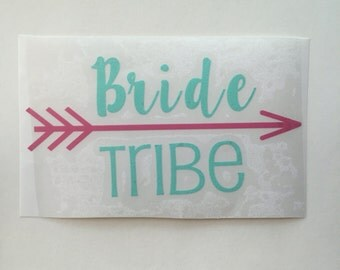Bride Tribe Decal, Vinyl Decal, Wedding Decal, Bachelorette, Bridesmaid Decal, Bridesmaid Gift, Planner Decal, Laptop Decal, Squad Decal