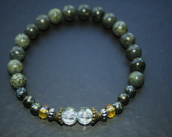 Russian Jade beaded bracelet