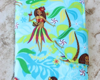 NEW! Kids Travel Coloring Case, Twistables Colored Pencil Holder, Road Trip Drawing Pad, Crayon holder, Hula Girl, Hawaii, Ready To Ship!