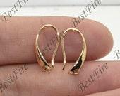 4pcs 24K Gold filled Brass earrings hook Findings,leverback earwire,Jewelry findings,earring findings,earrings findings