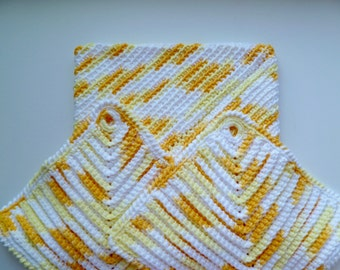 Potholders with Hot Plate, 100 % Cotton