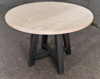 Ash Top Metal Leg Table