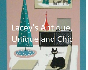 Darling Midcentury Modern Retro Christmas Card