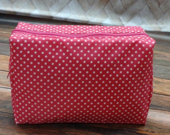 Personalized Large Cosmetic Bag  TOILETRY BAG Makeup Bag   Hot Pink