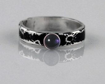 Fine Silver Amethyst Ring