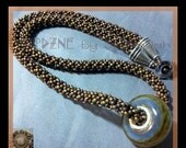 LoveU ENCHANTED WOODLANDS: Chenille Stitch Bead Woven Necklace