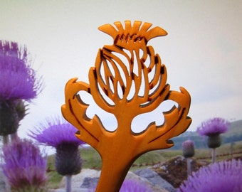 Hair Stick - Scottish Thistle Dagger in Maple