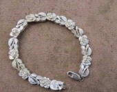 Sterling Silver Rose Bracelet, Valentine's Day Gift, Mother's Day Present