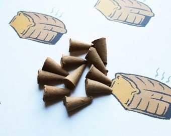 Fresh Baked Bread Scented Cone Incense - Incense Cones - Aromatherapy - Aroma - Essense - Home Decor - Gift for Adults