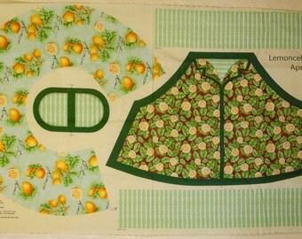 make you own apron preprinted panel LEMON FABRIC