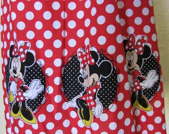 3-4T little girls black and red polka dots DISNEY MINNIE MOUSE dress girls toddler girls smocked top sundress minnie mouse fabric