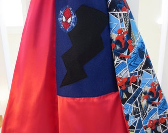 Small Spiderman Superhero Child's Cape