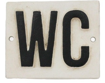 WC Cast Iron Sign