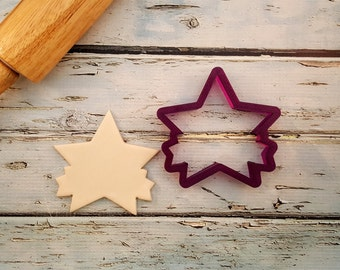 Star with Ribbon or Banner Cookie Cutter and Fondant Cutter and Clay Cutter