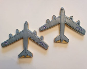 Air Force B-52 Fighter plane Cookies