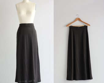 1970s Long Skirt . Seventies Long Maxi Skirt . 70s Maxi Skirt