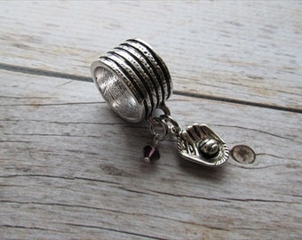 Baseball Glove Scarf Accessory, Decoration- Baseball Glove Charm with an accent bead in your choice of colors -Scarf Bling
