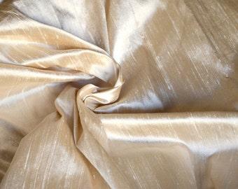 Silk Dupioni in Beige colour, Extra wide 54 inches, Half yard  DEX - 320.