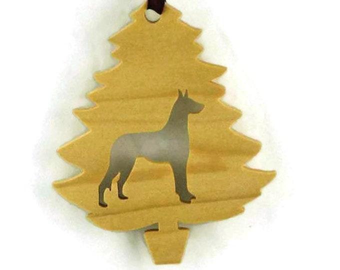 Great Dane Christmas Tree Ornament Handmade From Poplar Wood, Deutsche Dogge, German Mastiff