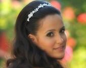 Bridal pearl wreath, wedding pearl wreath, Bridal pearl tiara, Wedding pearl tiara, Bridal pearl crown, Wedding pearl crown, pearl tiara