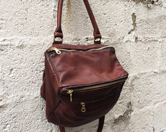 Slouchy Boxy Messenger bag handbag tote - Laurel Dasso