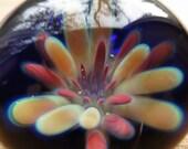 Boro Glass Lampwork Pendant Red Aquatic Flower Implosion Borosilicate Bead Collection