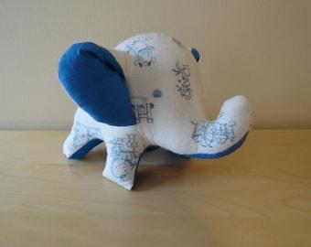 Baby Safe Large Stuffed Elephant- White