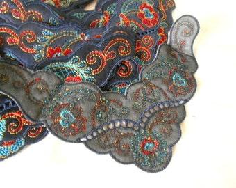 Vintage embroidered appliques LOT