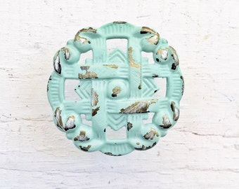 Drawer Pulls, Cabinet Knob,Dresser Knobs,Mint Knobs, Pastel Knobs,Green Knob,Seafoam Green Knob,Antique Brass,Spring Home Decor,