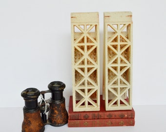 RESERVED thru 1/20/17 for Fritz: Vintage Industrial Tiles Art Deco (set of 2)