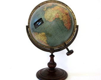Vintage World Globe Rare 1920's Mechanical Index Device by Chas Williams