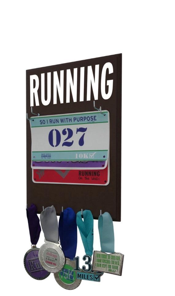 RUNNING, Races bib and medal holder - Running medals holder -  Running race bib and medal hanger display rack
