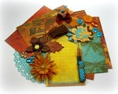 Bo Bunny Forever Fall Brown Orange Green Inspiration Kit Fall Embellishment Kit for Scrapbooking Cards Mini Albums Tags and Paper crafts 1