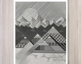 Digital Print - Geometry's Valley