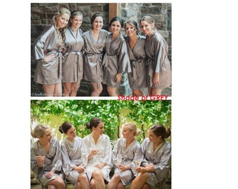 Bridesmaid robes, silk robe, dressing gown, personalized robes, silk bridesmaids robes, satin robes, kimono robe, wedding gifts, set of 6