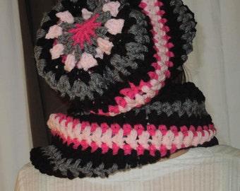 Mandela slouchy hat PDF Crochet slouchy hat pattern chunky crochet pattern204